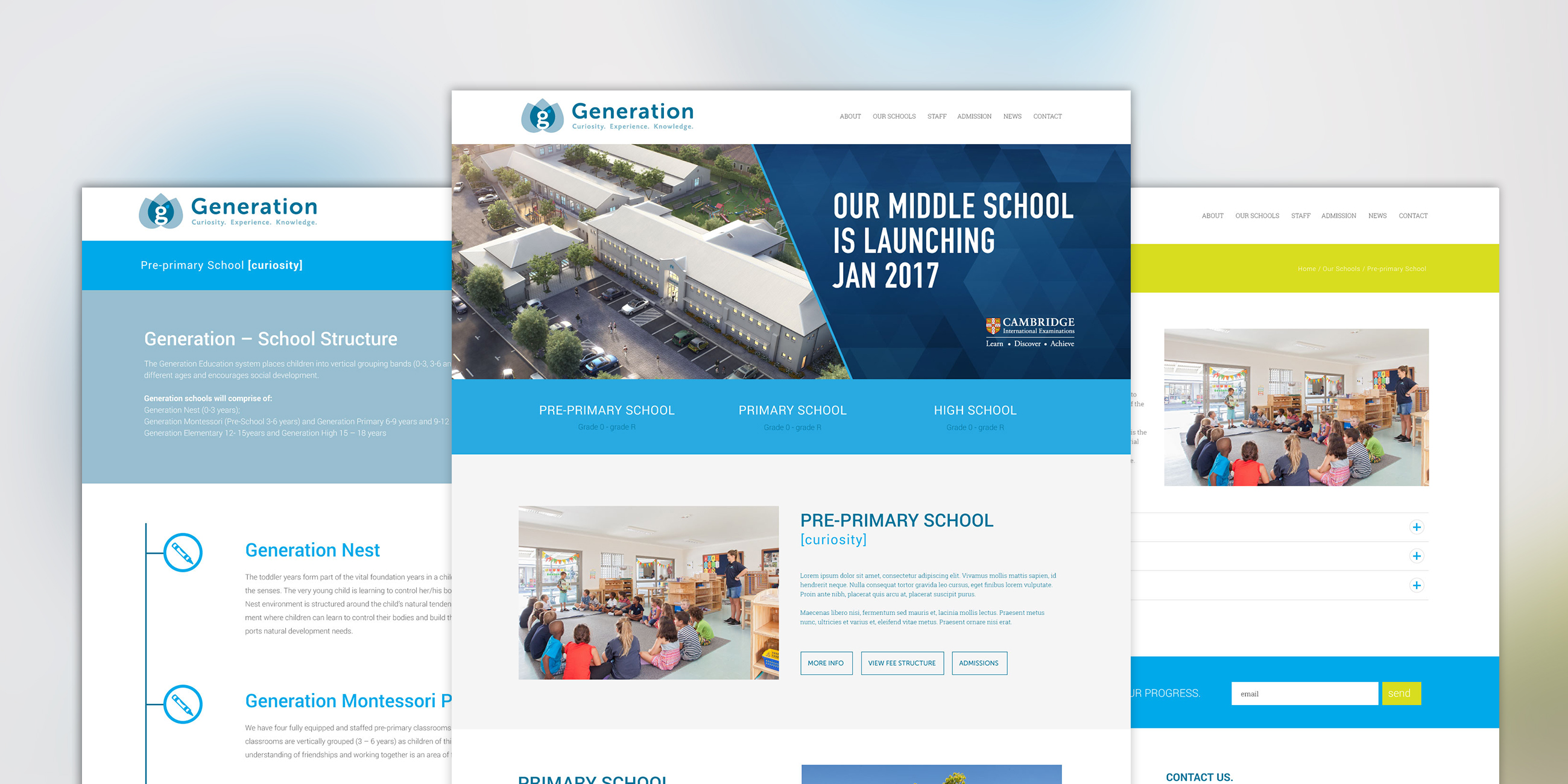 website design - Corporate Identity Design Generation Schools brand identity design