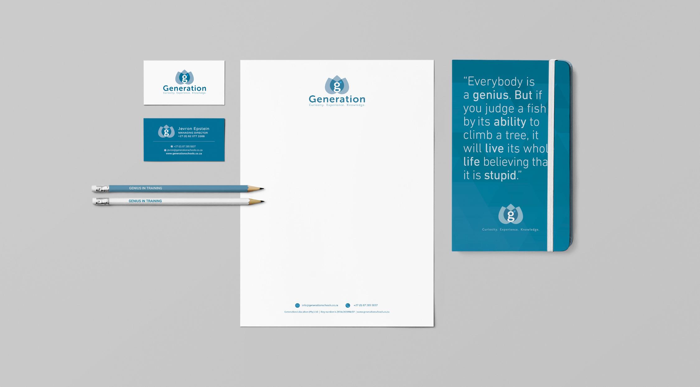 Corporate Identity Design Generation Schools brand identity design