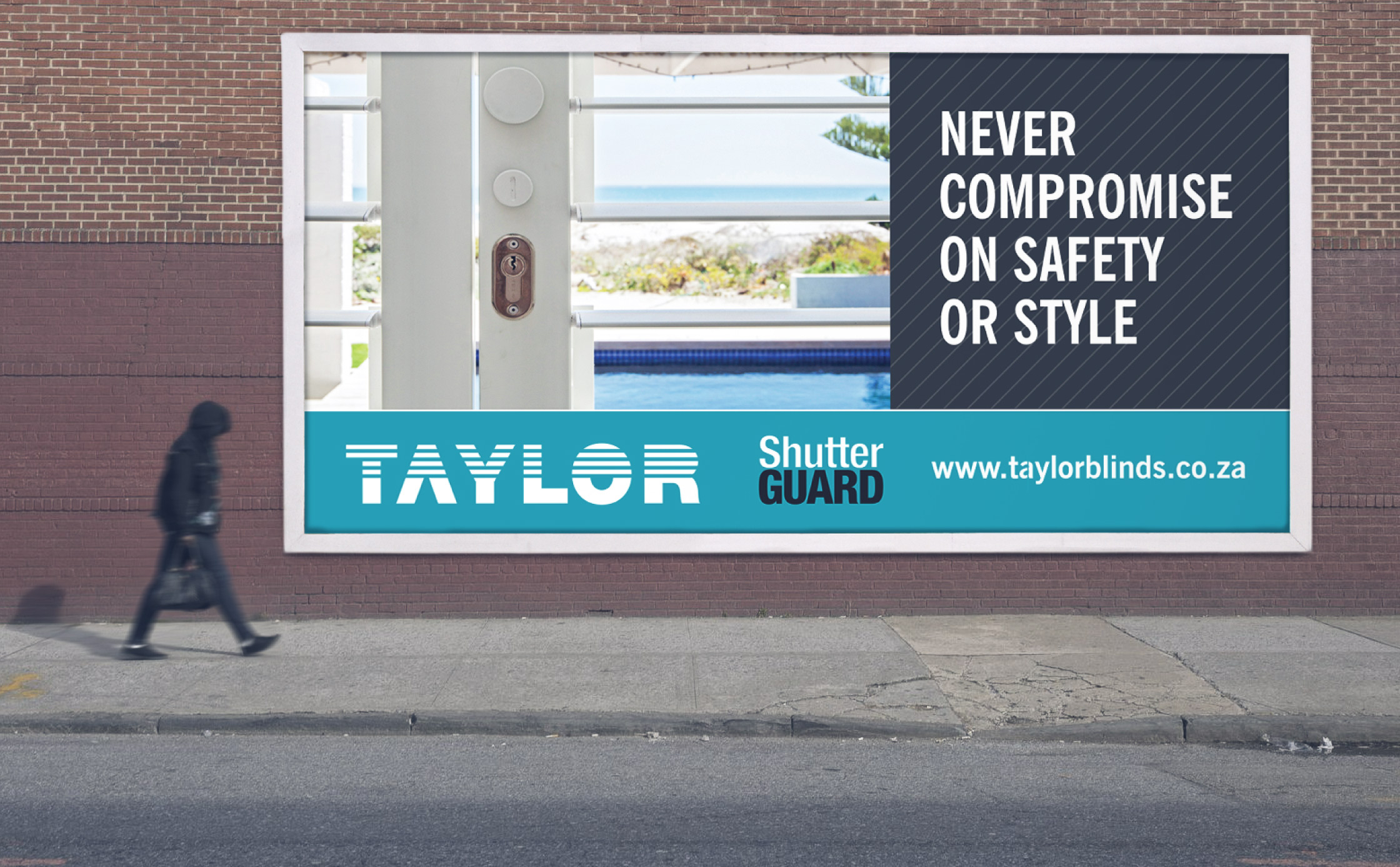 Taylor Blinds Billboard design - Brand identity agency Cape Town