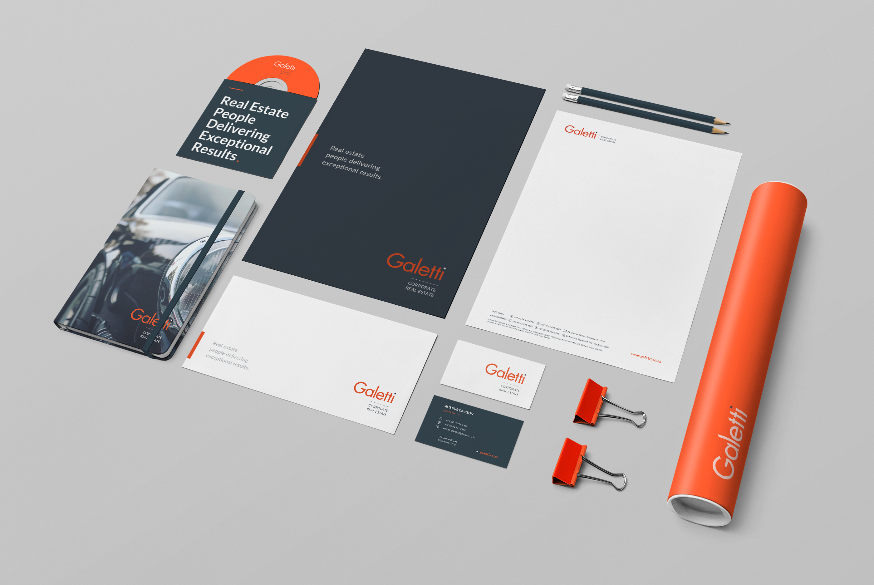 Galetti CRE corporate identity design 3