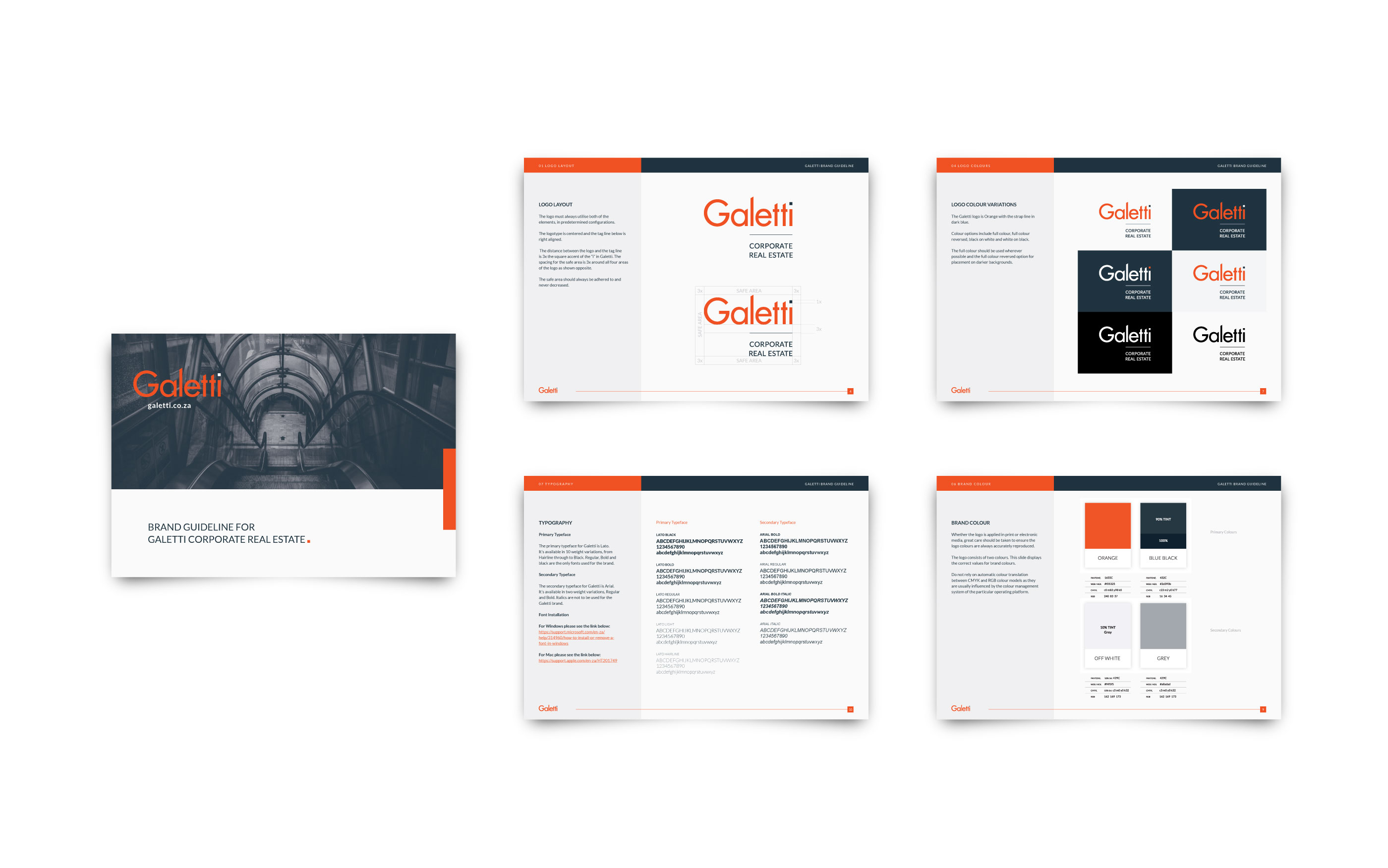 Galetti CRE corporate identity design 8