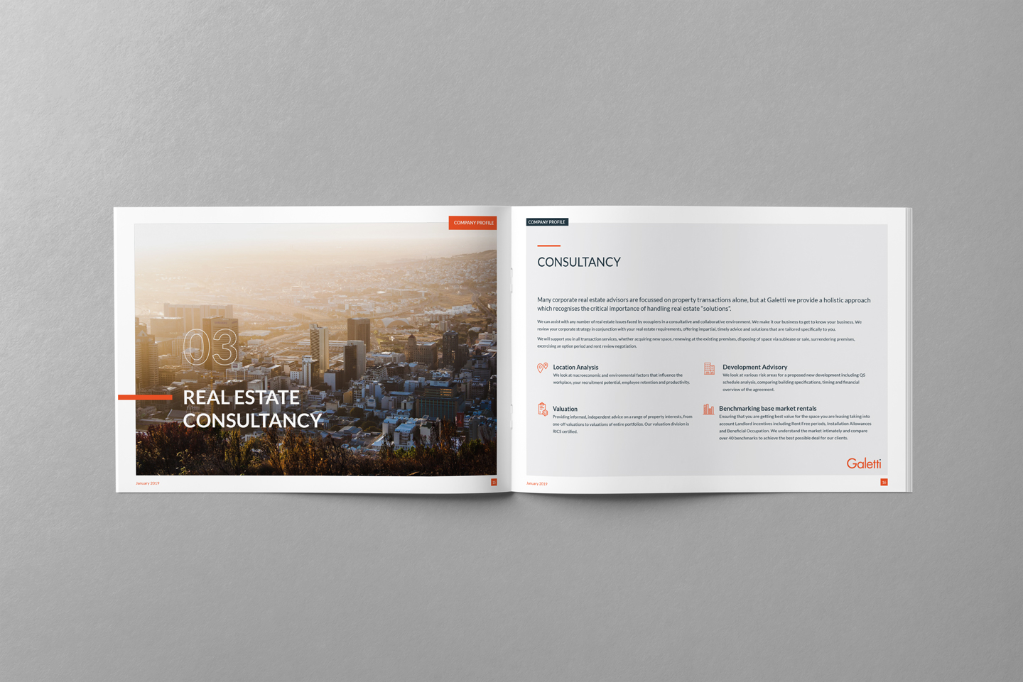 Galetti CRE corporate identity design 4